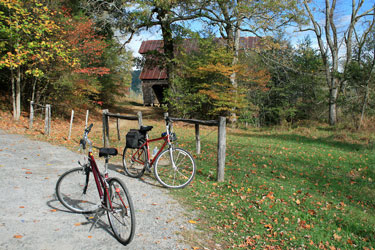 bicycle touring in Cades Cove, Tennessee