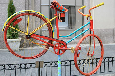 vintage bicycle at a Chicago, Illinois festival