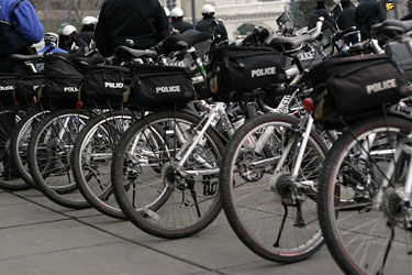 police bicycles in Washington, DC