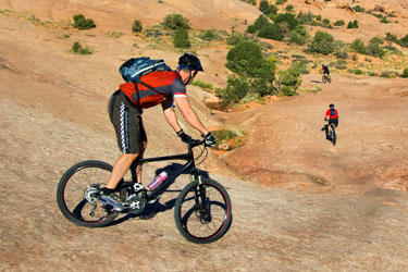 mountain biking in the Utah desert