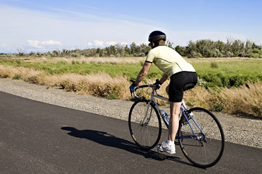 cycling riding a road bike in Washington State